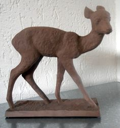 Karlsruhe majolika deer Else Bach by Veryodd on Etsy, $150.00 - Oma und Opa hatten auch so eins