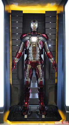 "The Iron Man Mark V armor at the Marvel San Diego Comic-Con booth. Iron Man 2 - ""Briefcase"" armor."