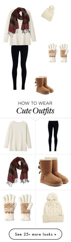 Cute winter outfit !! by annabelledickinson on Polyvore featuring NIKE, Toast, Rella, Isotoner, Echo and UGG Australia
