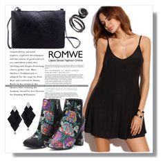 """Romwe II / 22."" by amra-sarajlic ❤ liked on Polyvore featuring Roberto Demeglio and romwe"