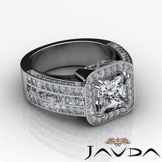 Splendid Princess Cut Diamond Engagement Ring GIA F VS2 14k White Gold 2 5 Ct | eBay