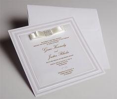 White Wedding Invitations UK - New Satin - WeddingSoon