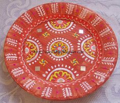 Easy Crafts - Explore your creativity: Decorative plate/ Wall hanging