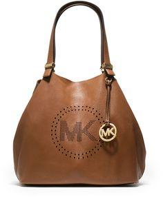 Michael Kors MK Large Perforated Logo Grab Bag - Bolsa De Classe, Estojos,  Carteira bccb5cd2a3
