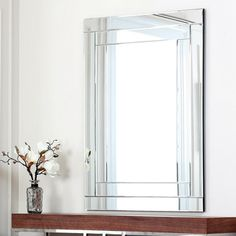 Frameless Tri Bevel Wall Mirror Ping The Best Deals On