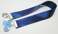 Dark Blue Ribbon Bookmark With Bird Nest Bird by WhispySnowAngel, $8.00