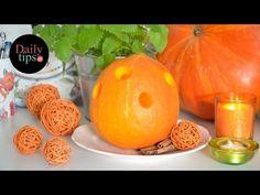 Jesienna dekoracja - Latarenka z dyni