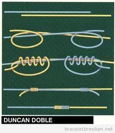 Bracelet, comment réaliser un noeud Duncan                              …