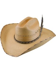 4eab9e97840df Larry Mahan Men s 30X Logan Palm Leaf Cowboy Hat