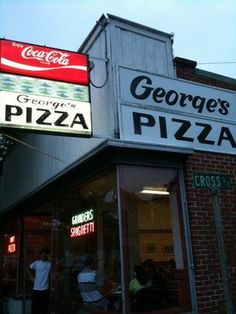 George's pizza harwich port ma - also still there after al of these years. An odd fact is that most of the Cape's pizza places are owned by Greeks. Just like George's.