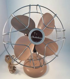 Fan Electrohome Starburst Mid Century Pink Working 1 Speed #60100 OG Paint Cord Retro Fan Decor Blade Dusty Rose by KoolKoolThangs on Etsy