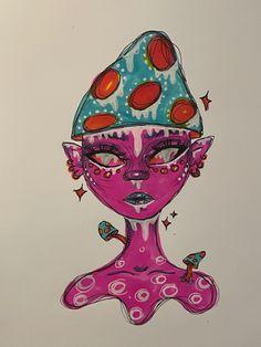 Arte Grunge, Grunge Art, Indie Drawings, Art Drawings Sketches Simple, Art Journal Inspiration, Art Inspo, Psychadelic Art, Hippie Painting, Trash Art