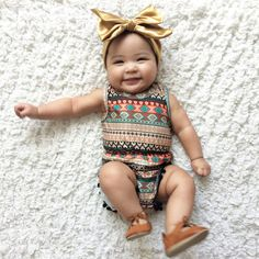 Pom Pom Romper - Tribal - Bailey's Blossoms - 2