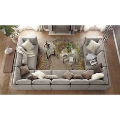 Moda 9-Piece Sectional Sofa in Sectional Sofas | Crate and Barrel