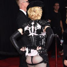 Pin for Later: The 24 Grammys Moments Everyone's Still Talking About Madonna Flashed Her Bum to the Entirety of the Red Carpet