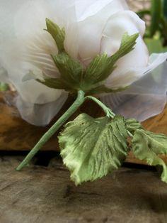 Millinery Flower, Seashell Pearl Silk Rose, Garden Wedding