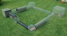Rabbit Run.  This is product made in the UK, but could be a DIY project.