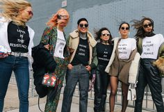 Shea Marie with Gentle Monster sunglasses, Irene Kim, Bryanboy, Tina Craig, Aimee Song with Gentle Monster sunglasses, and Chriselle Lim in Prabal Gurung