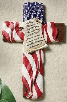 Pledge of Allegiance Flag Cross