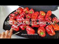 Capsicum is so healthy and versatile vegetable, you can use them in so many recipes and one of my favourite is roasted capsicum. So, today I'm goin. Antipasto Plate, Roasted Capsicum, Bbq Roast, How To Dry Oregano, Side Dishes, Stuffed Peppers, Homemade, Vegetables, Healthy