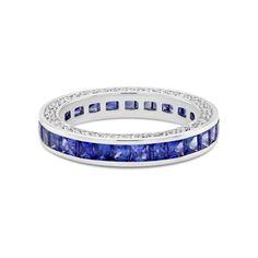 David M Robinson Sapphire and Diamond Eternity Ring