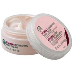 The Body Shop Vitamin E Nourishing Night Cream. Must admit to being slightly addicted to this