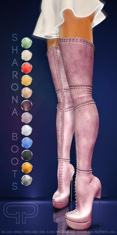 68427aa38a98c Pure Poison - Sharona Boots AD. Pure Poison, Second Life, Knee ...
