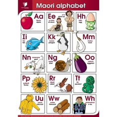 SPB Wallchart Maori Alphabet by Croxley - Shop Online for Stationery in NZ