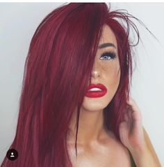 Long Straight Synthetic Hair Ombre Wig Dark Root Lace Front Wigs with Natural Baby Hair for Women Glueless Side Part Burgundy Synthetic Hair Wigs Hair Color Auburn, Auburn Hair, Deep Red Hair Color, Red Hair With Dark Roots, Red Color, Magenta Hair Colors, Lip Colors, Ombre Wigs, Ombre Hair