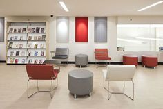 Teen Center for William F. Laman Public Library, designed by Allison Architects.