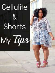 Learn how to rock shorts this summer when you don't want to flash too much cellulite! Plus Size Fashion For Women, Plus Size Women, Curvy Outfits, Plus Size Outfits, Cellulite, Plus Size Inspiration, Plus Size Fashionista, Looks Plus Size, Full Figure Fashion