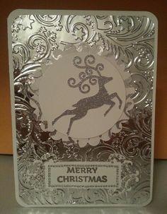 Christmas card...heat embossing, Spellbinders Nestabling and M-Bossabilities