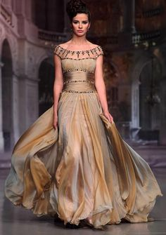Oh my gosh, the colors of the skirt! ~ Living a Beautiful Life ~ ♥ Romance of the Maiden ♥ couture gowns worthy of a fairytale - jaglady