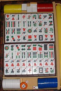Mah Jongg!  Similar to the Western card game rummy, mahjong is a game of skill, strategy and calculation and involves a certain degree of chance. In Asia, mahjong is also popularly played as a gambling game