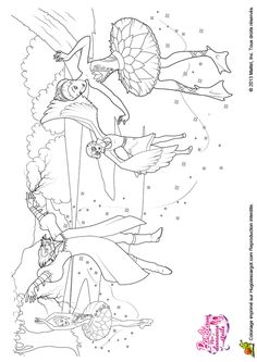 Barbie Ballerina Coloring Page More