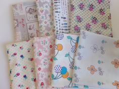 Bundle of 20 FQ (not exact image) from PolkadotTeaFabric giveaway on Lily's Quilt blog.  Cool Japanese prints!