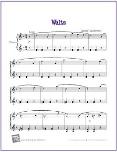 Waltz (Kabalevsky) | Free Sheet Music for Easy Piano - http://makingmusicfun.net/htm/f_printit_free_printable_sheet_music/kabalevsky-waltz-piano.htm