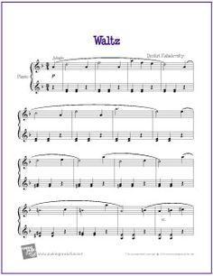 Waltz (Kabalevsky) | Free Sheet Music for Easy Piano - http://makingmusicfun.net/htm/f_printit_free_printable_sheet_music/kabalevsky-waltz-piano.htm (Scheduled via TrafficWonker.com)