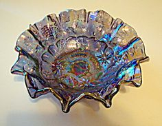 Good Luck Bowl, Carnival Glass