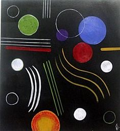 The Circles - Oil Painting on Paper - W. Kandinsky                                                                                                                                                                                 More
