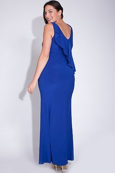 96cb28a425e It s all in the details with this ruffle dusk maxi styled dress. Features  Ruffle Back