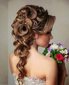 Fotó Wedding Hairstyleswigbrown Hairhair
