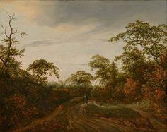 Jacob van Ruisdael - Weg in een boslandschap bij schemering