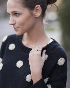 #polkadot sweater