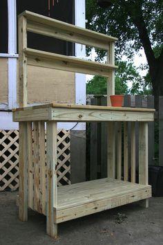 potting tables designs | Potting Bench