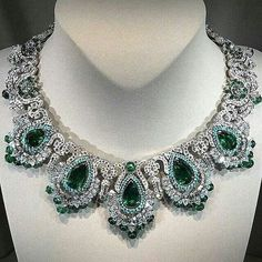 Zambian emeralds, diamonds and paraiba tourmalines. Van Cleef & Arpels.