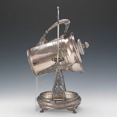 514. A Wilcox Silver Plated Ice Water Pitcher and Stand, 1878 - Featuring the Estate of Joseph T. Gorman - ASPIRE AUCTIONS
