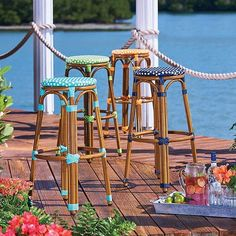 These stools will look good on your patio or around your bistro set.