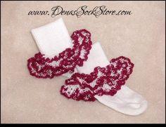 Crocheted Lace Ultimate Ruffles Socks