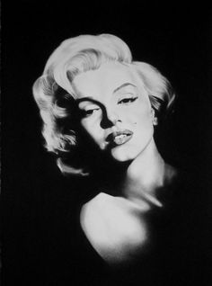 Marilyn Monroe Original Charcoal Portrait